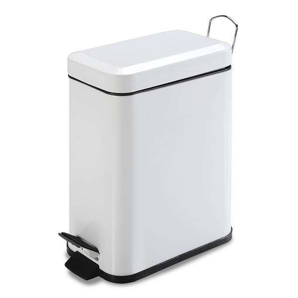 CUBO PEDAL BLANCO 5 L. RECTANG