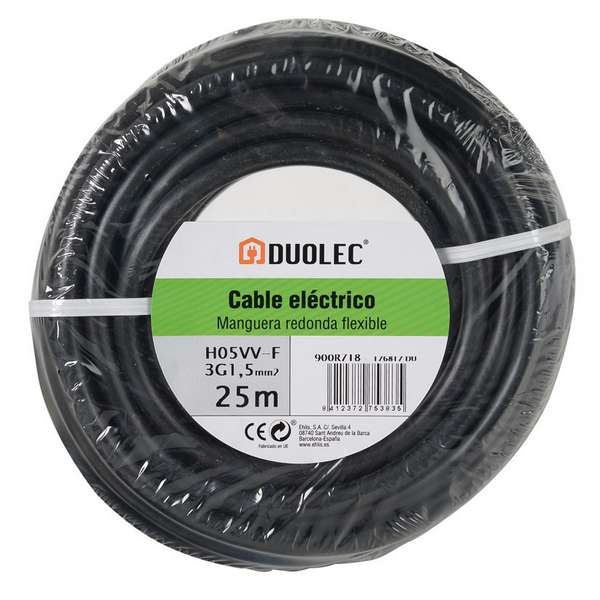 CABLE ELECT.MANG.RED 3X1,5 25M