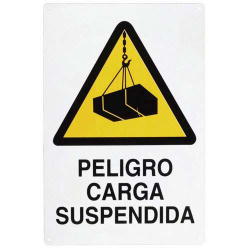 PLACA ATENCION CARGA SUSPENDID