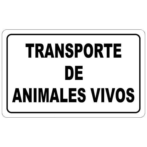 PLACA TRANSPORTE ANIMALES PLAS