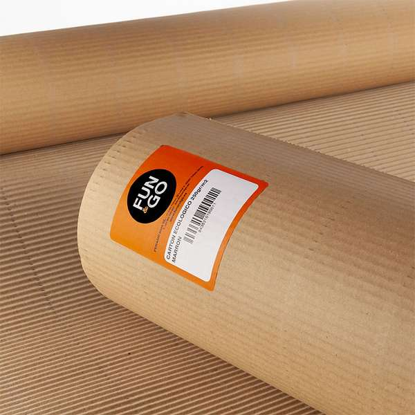 CARTON ECOLOGICO MARRON  0.9MX